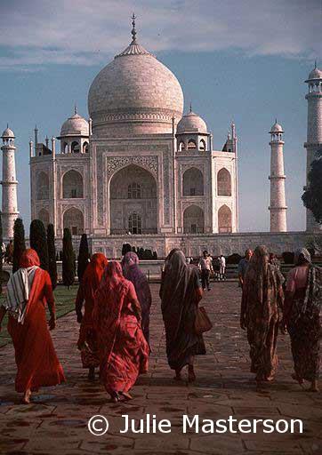 Pilgrims at Taj Mahal
